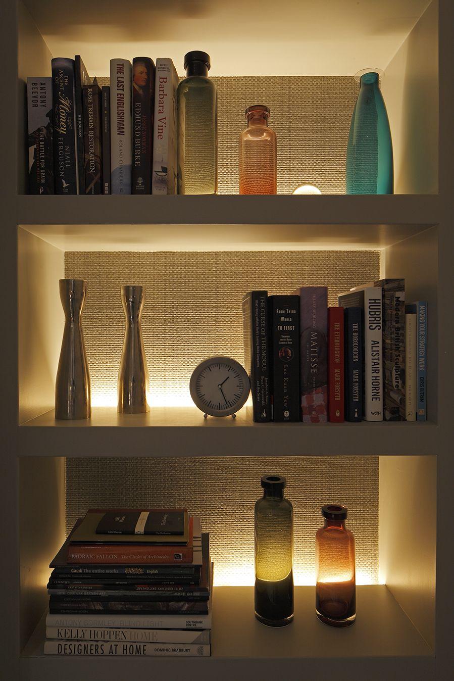 sitting room shelf lighting shelf