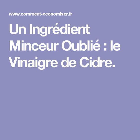 Un Ingrédient Minceur Oublié : le Vinaigre de Cidre.