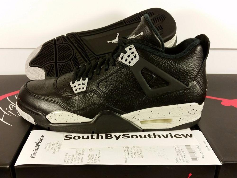free shipping 672c4 f09b0 Nike Air Jordan 4 Oreo With Receipt IV Retro Black Tech Grey Gray 314254-003  DS  MichaelJordan  AirJordan  Jordans