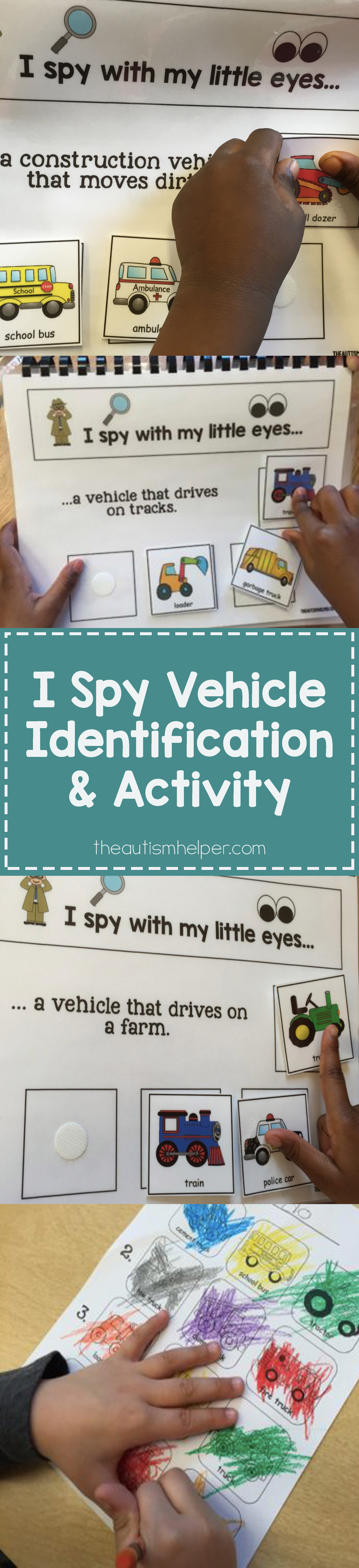 I Spy Vehicle Identification And Coloring Activity