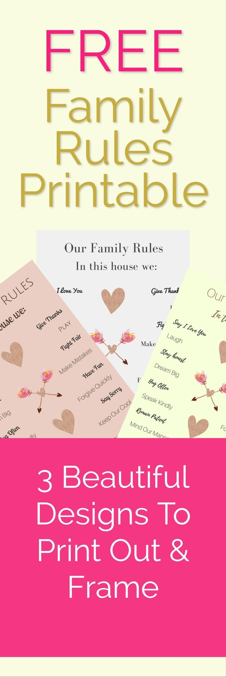 Pin by Barbara Townsend on family Family rules printable
