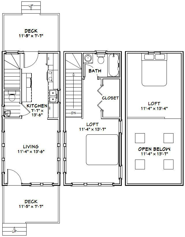 12x28 tiny house 12x28h8a 756 sq ft excellent
