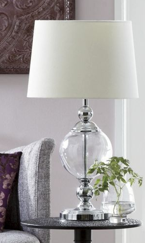 Glass table lamp contemporary table lamps seventh avenue