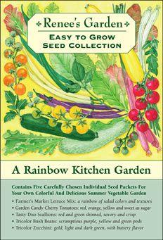 Easy To Grow Seed Collections Kitchen Garden Plants Summer Vegetables Garden Renees Garden