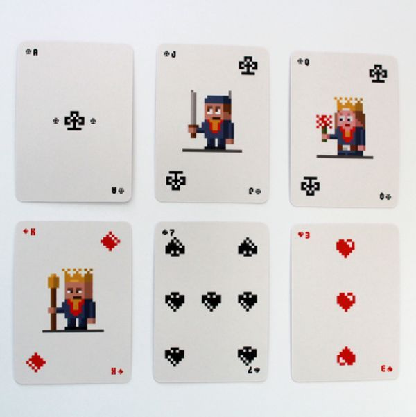 The Elegant Iota Deck Of Playing Cards Features Simple Geometric