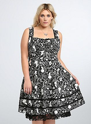 e74e69e2eb7 Torrid  Disney Alice in Wonderland Collection Lace Trim Swing Dress ...