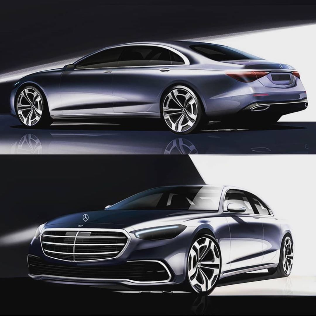 Car Design Daily On Instagram Mercedes Benz S Class W223 Design Sketch By Milan Jasnic Do You Think The New S Class Will Loo Car Design Benz S Benz S Class