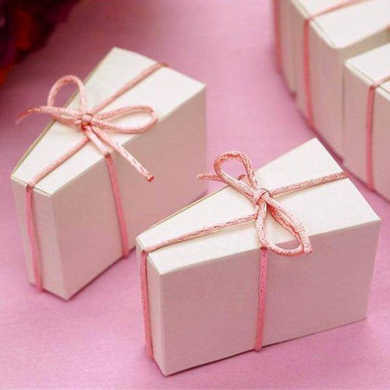 Favor Boxes Cake Slice Favor Box 100pc In 2018 Products