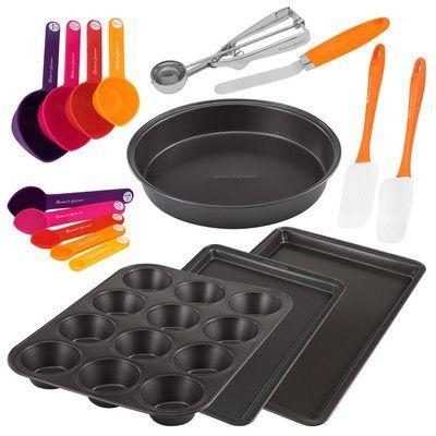 Baker S Secret Metal And Gadget 17 Piece Bakeware Set Baking Set