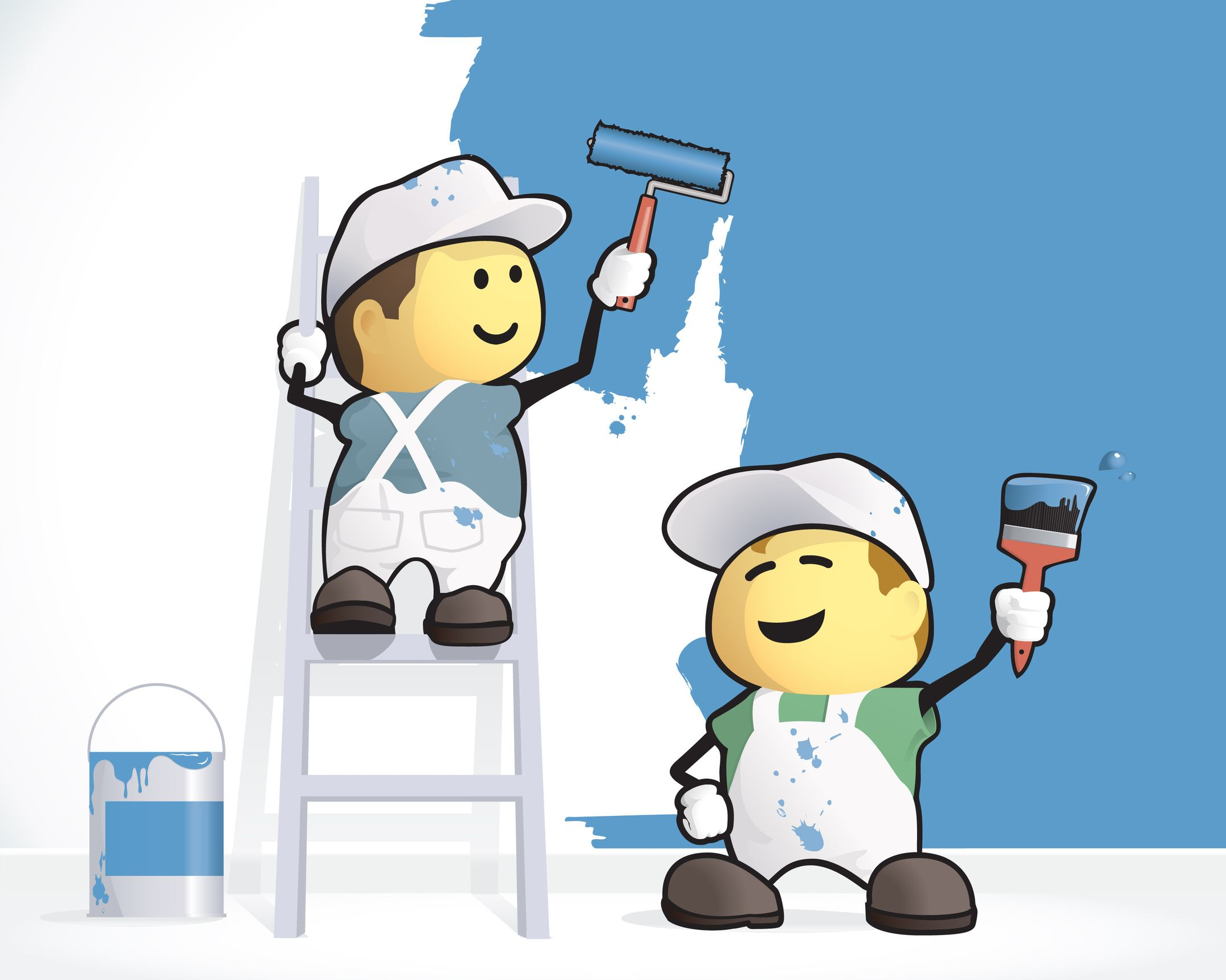 Paint House cartoon pictures of painters painting houses at certapro painters
