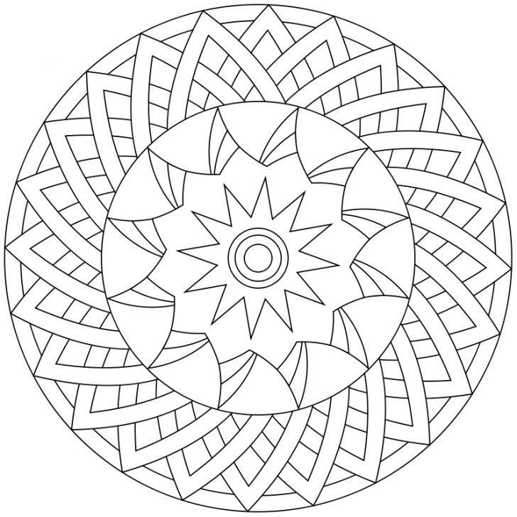 mandalaausmalbild nr 41  mandala coloring pages
