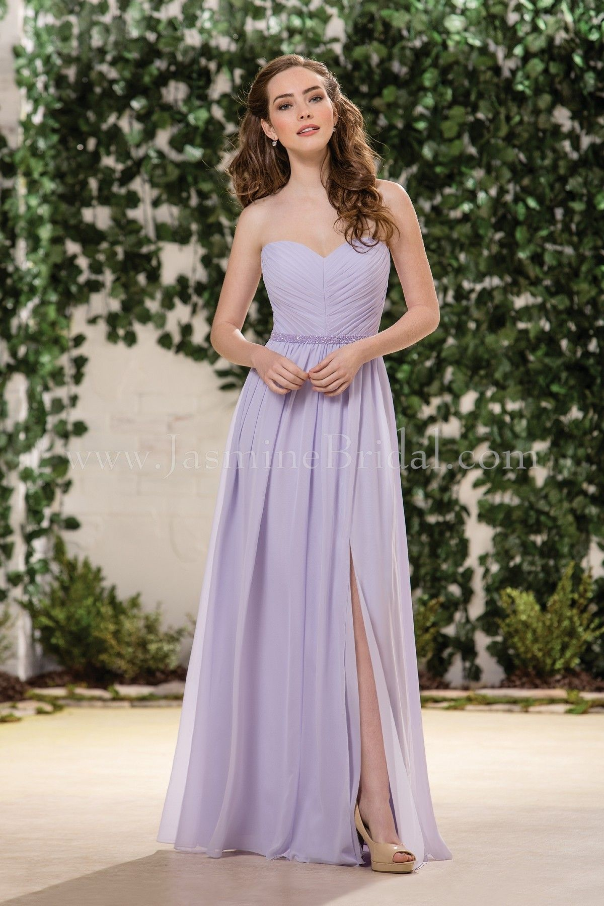 Jasmine Bridal Bridesmaid Dress B2 Style B183055 in Lavender Ice ...