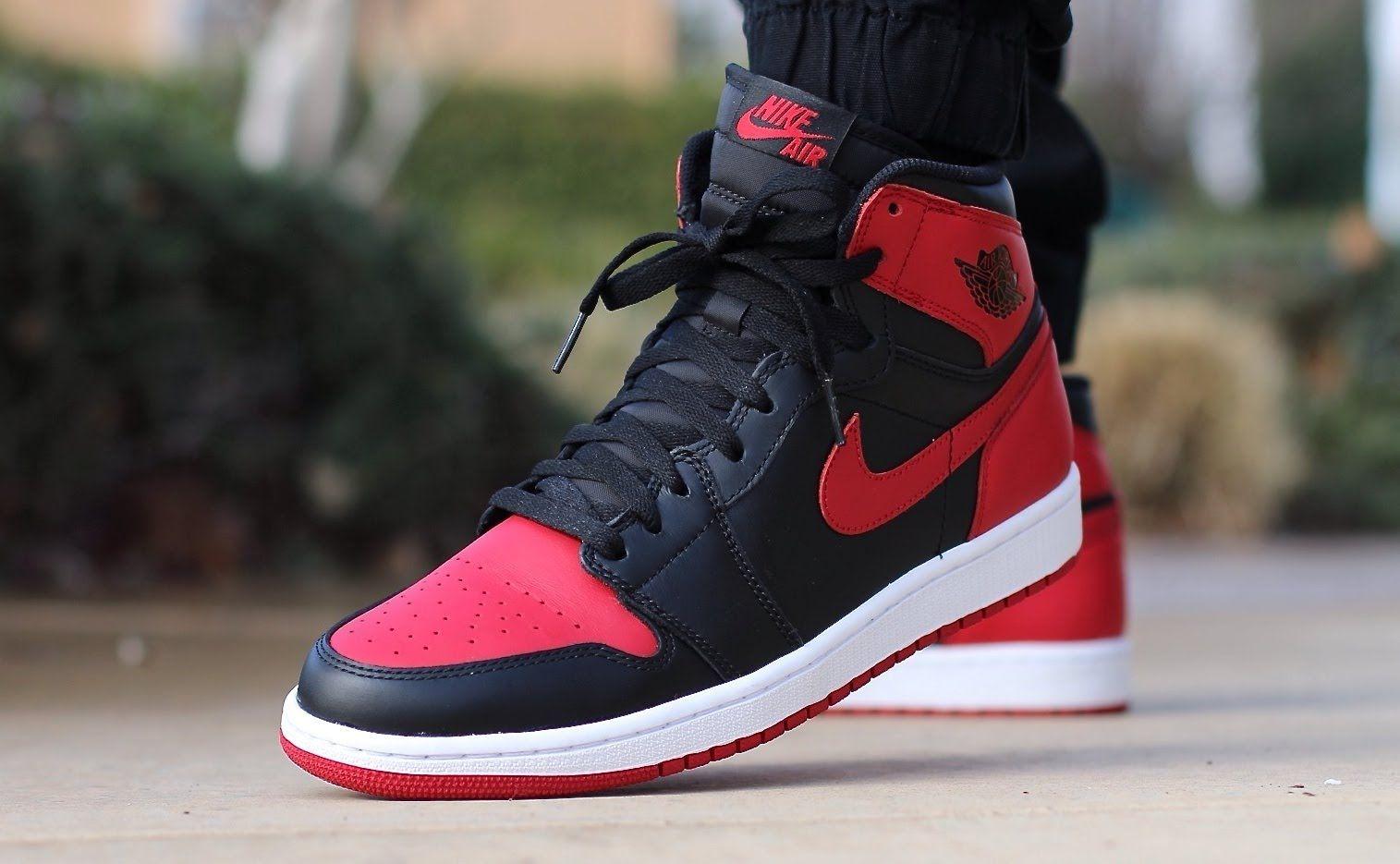 Jordan 1, Bred | Air jordans, Sneakers