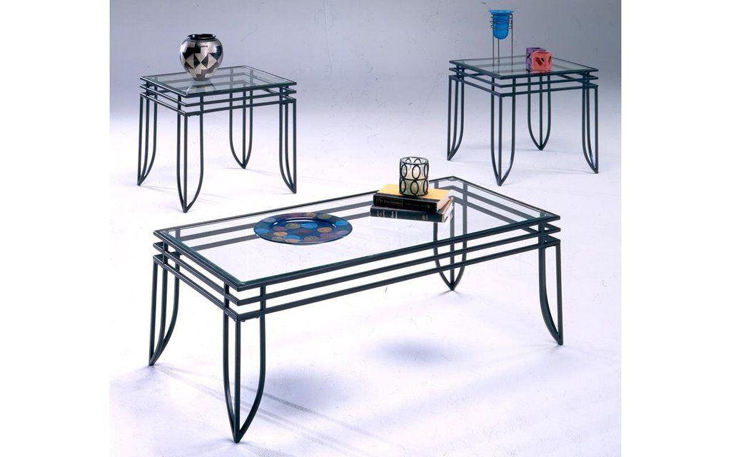 Matrix Black Glass Coffee Table Set My Furniture Place