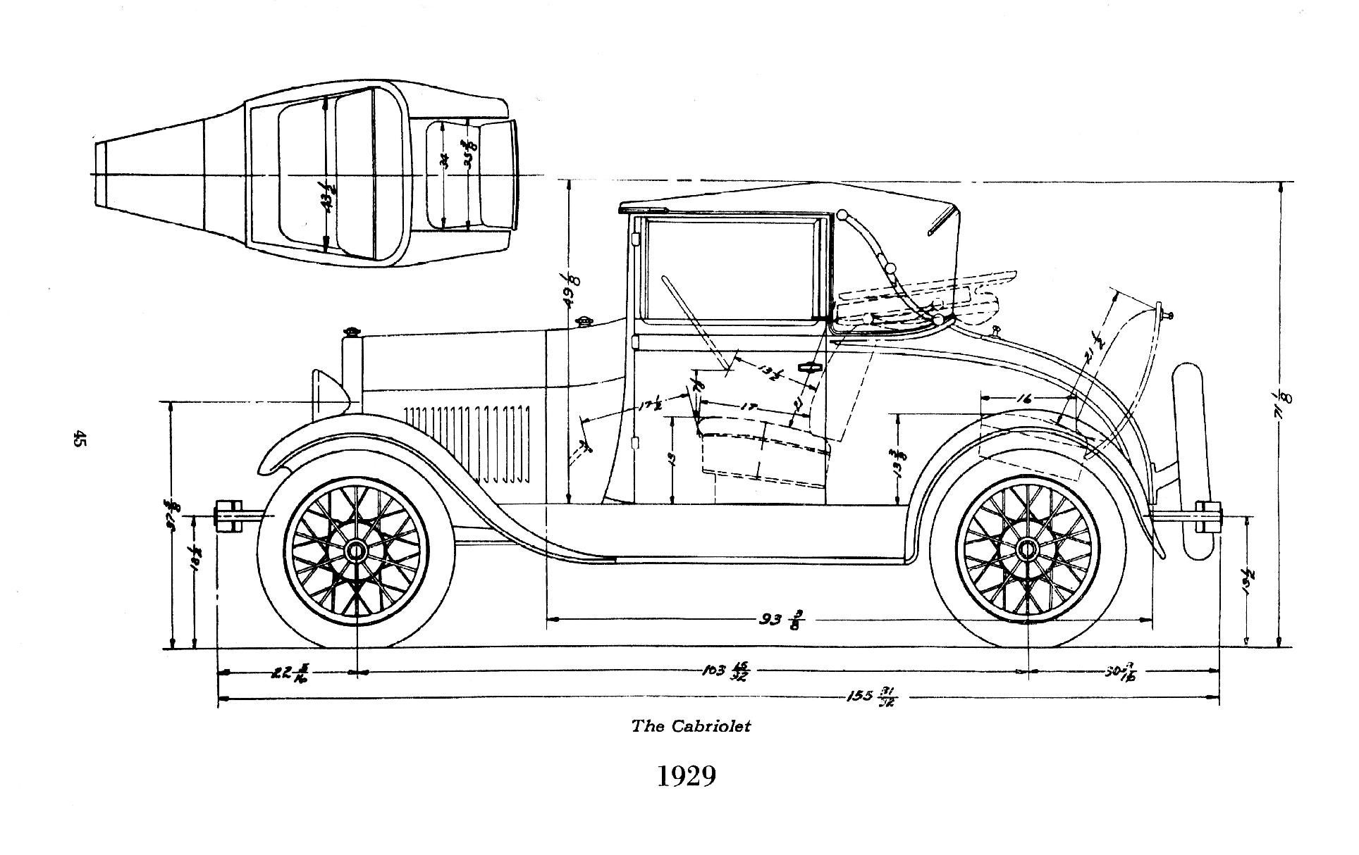 Model A Ford Engine Drawings Ford Model A Body Dimensions