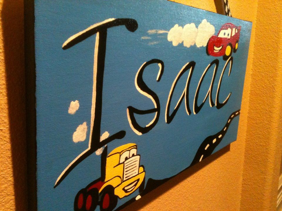 Name Painting For Little Boys Room