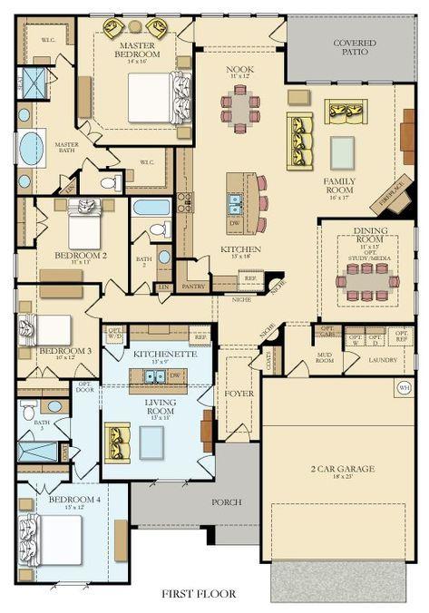 Genesis New Home Plan in Crown Ridge in 2018 house plans