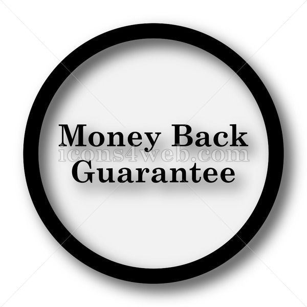 Money back guarantee simple icon Money back guarantee simple button Money back guarantee simple icon Money back guarantee simple button Royalty free image for your projec...
