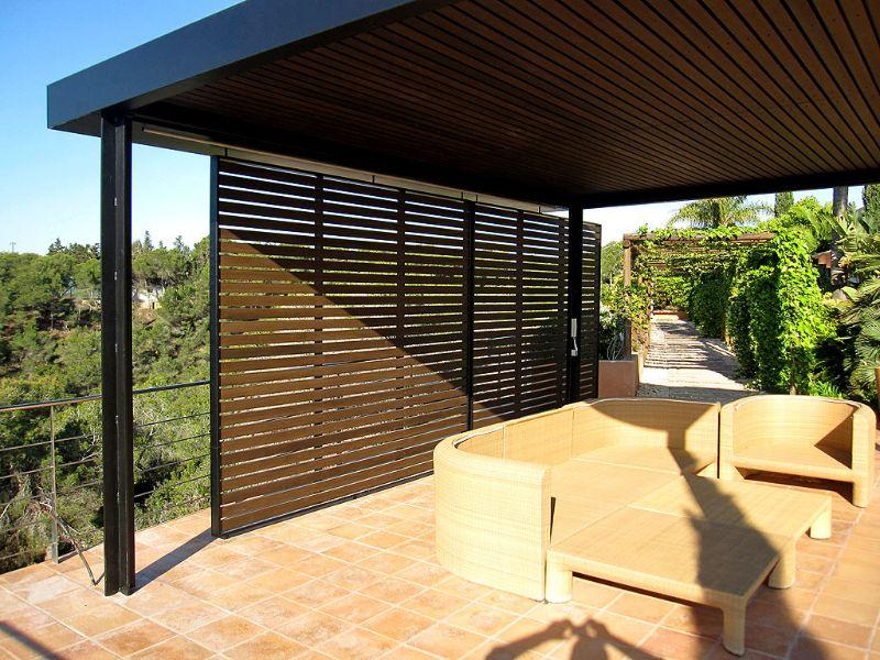 Reforma vivienda chalet pergola estructura met lica y madera reformas exterior y piscinas - Estructura metalica vivienda ...