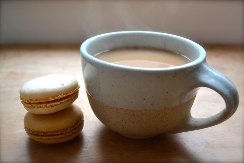 my cup of earl-grey with a macaroon or two.