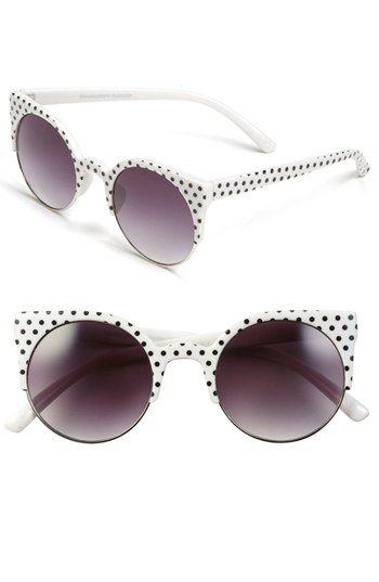 Retro Sunglasses In Polka Dot Quay At Nordstrom Retro