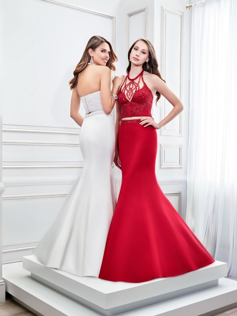Val stefani style rx prom crop top prom dress hottest