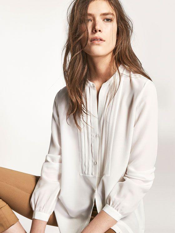 Costura Blouse Mujer Barbarasangi Shirt Massimo Dutti Un0nxfv