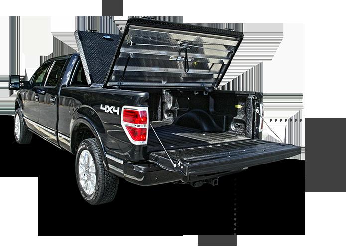 F150 Truck with Black DiamondBack HeavyDuty Tonneau
