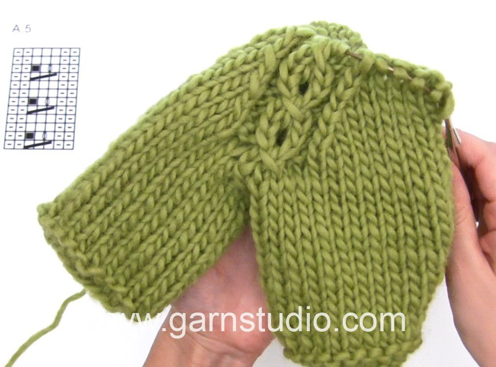 DROPS Knitting Tutorial: How to work raglan with cable - YouTube ...