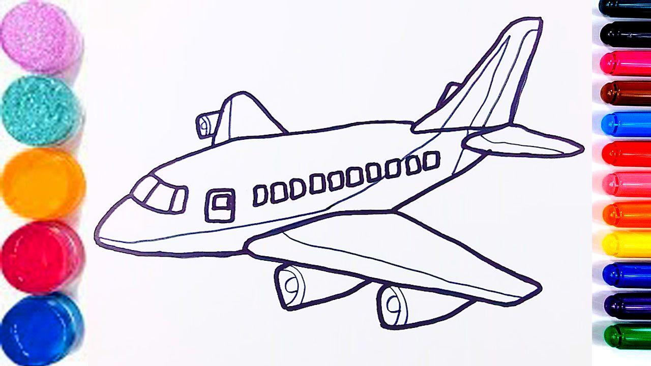 Glitter Planes Coloring Pages For Kids Pesawat Terbang Halaman Mewarnai Como Desenhar Avioes Halaman Mewarnai Warna Pesawat