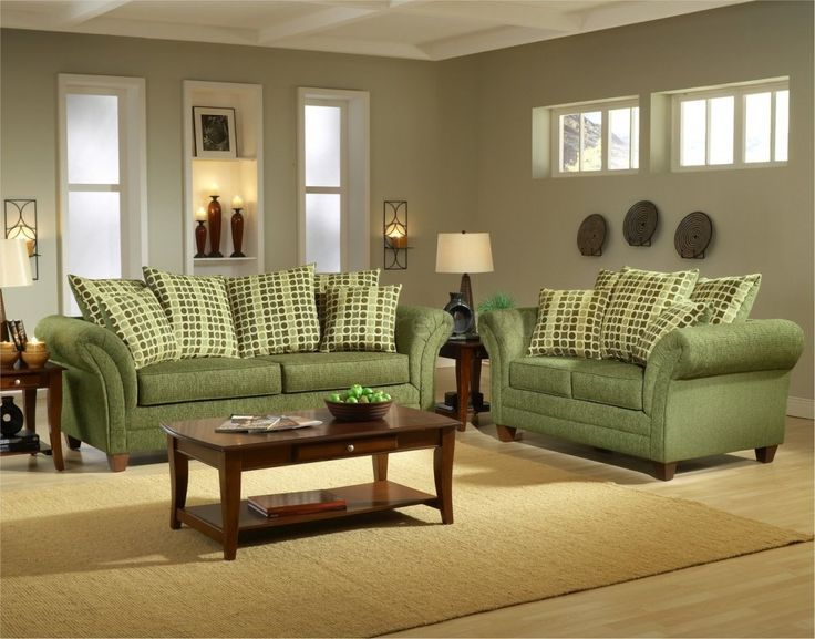 Green Living Room Furniture Ideas Jpg 736 577 Green Sofa