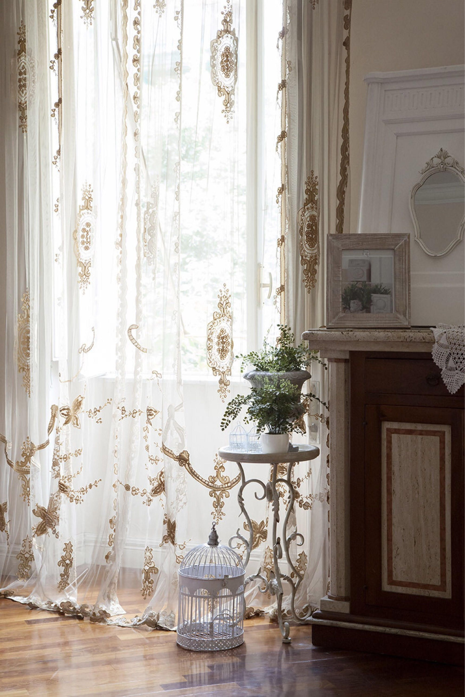Tende Bianche E Bordeaux.Raffinata Tenda In Tulle Stile Vittorianoideale Per Qualsiasi