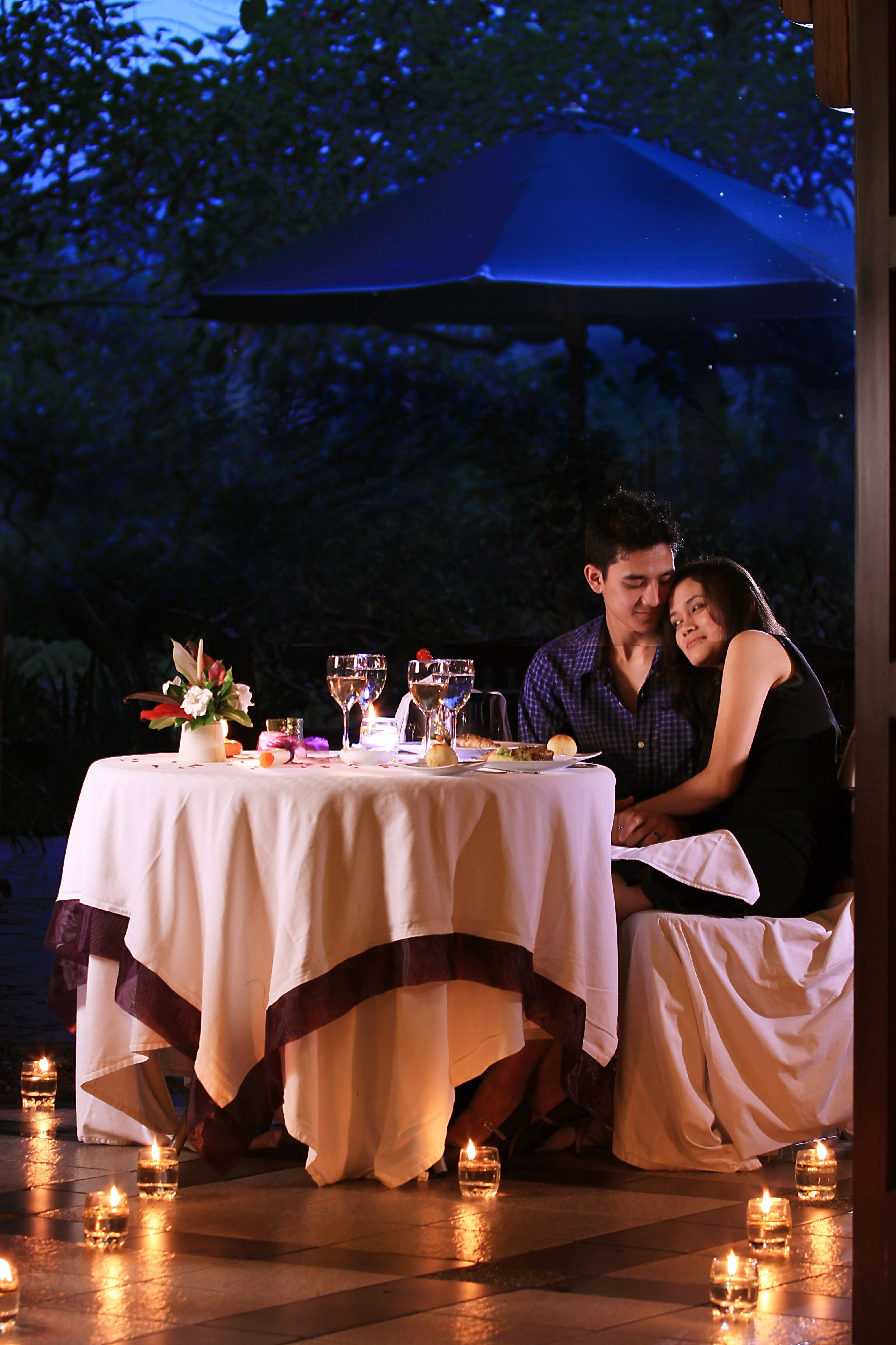 Candle night dinner couple candle night dinner couple
