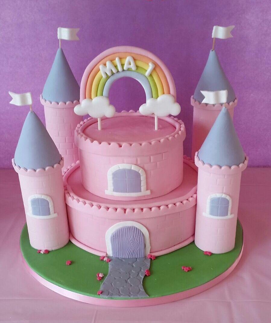 Mia S 1st Birthday Princess Castle Cake Princess Castle Cake