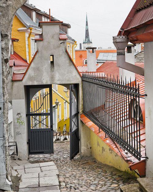 Tallin, Estonia... Ihan sen pienen kellariravintolan kulmalta kuva, kunpa pääsis tuohon nyt... :)