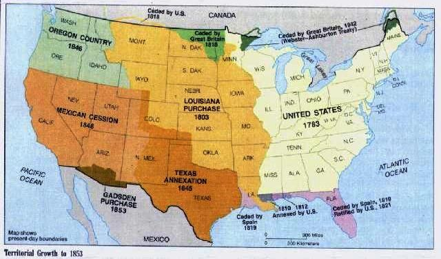 westward expansion map | History lesson plans, American ...