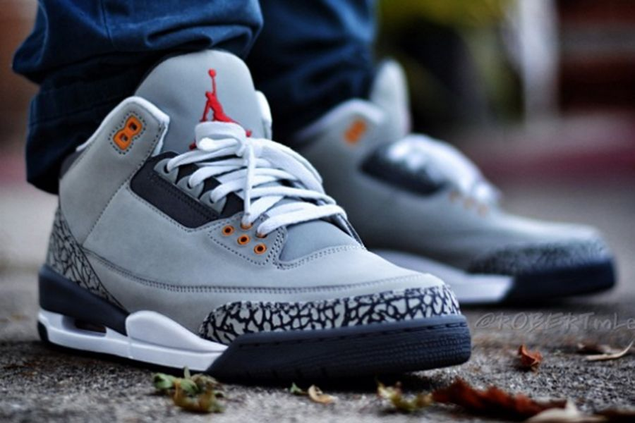 nike air jordan 3 retro cool grey flip open