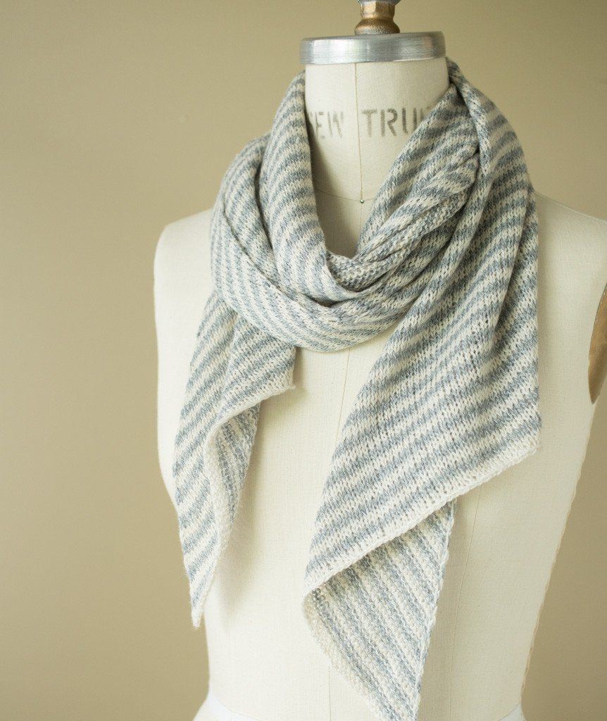 Bias \'Before & After\' Scarf Using Jade Sapphire Sylph   Yarns ...