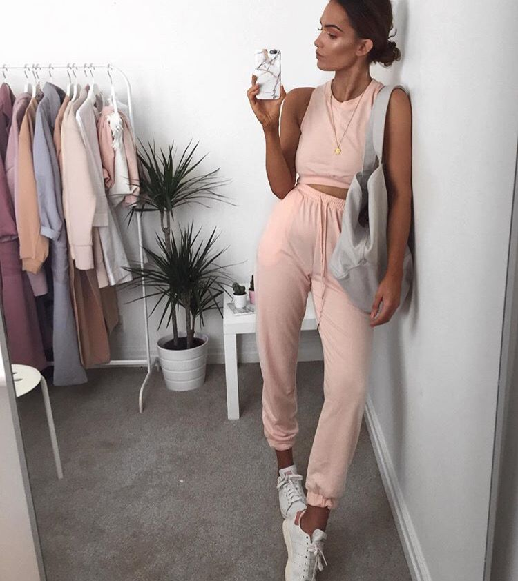 1fab2d4163f8 Lissy Roddy on Instagram wearing a summer tracksuit from Lasula ...