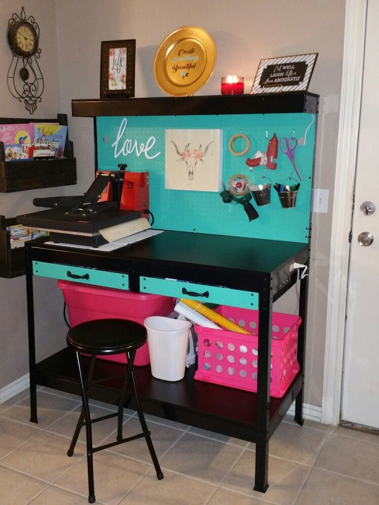 Craft Work Bench Makeover From Harbor Freight Only 79 Craft Room Craft Room Organization Dream Craft Room