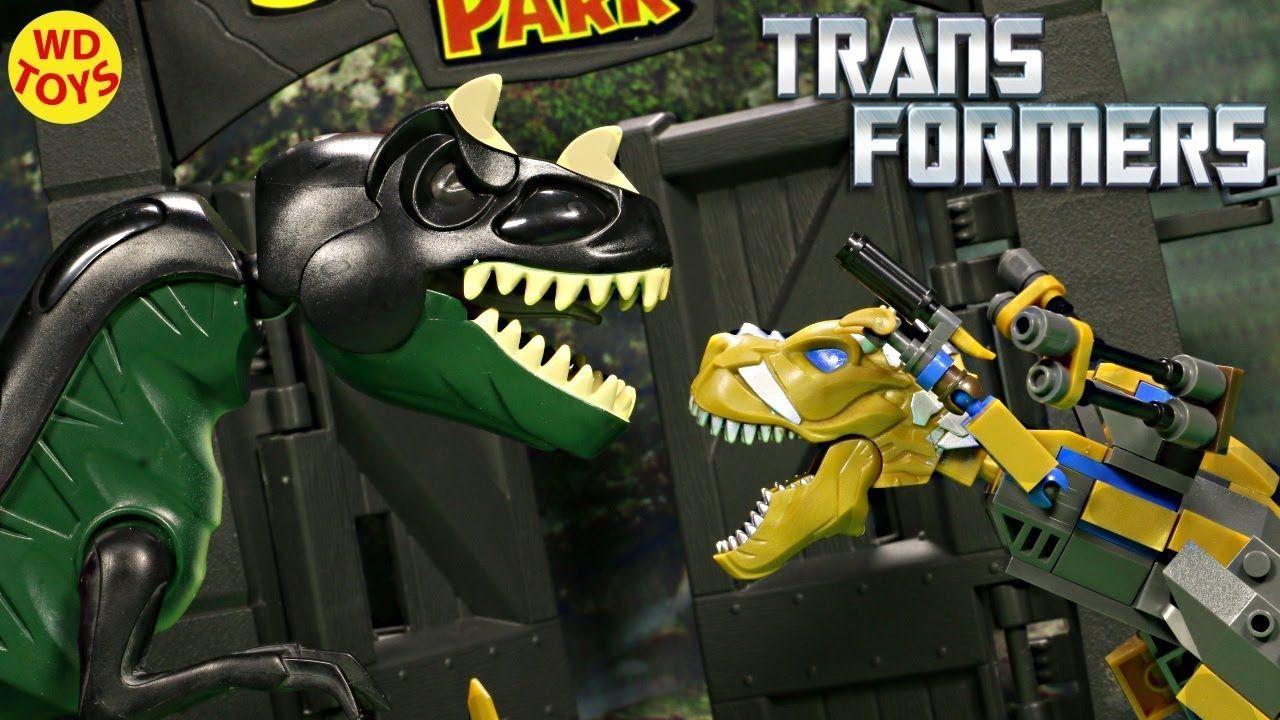 New KRE-O Transformers Grimlock Street Attack Lego Compatible T-Rex Vs J...