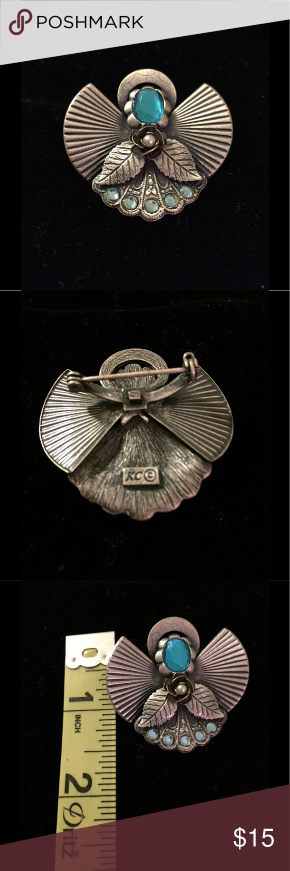 Kc Jewelry Mark : jewelry, Vintage, Angel, Brooch, Jewelry,, Brooch,