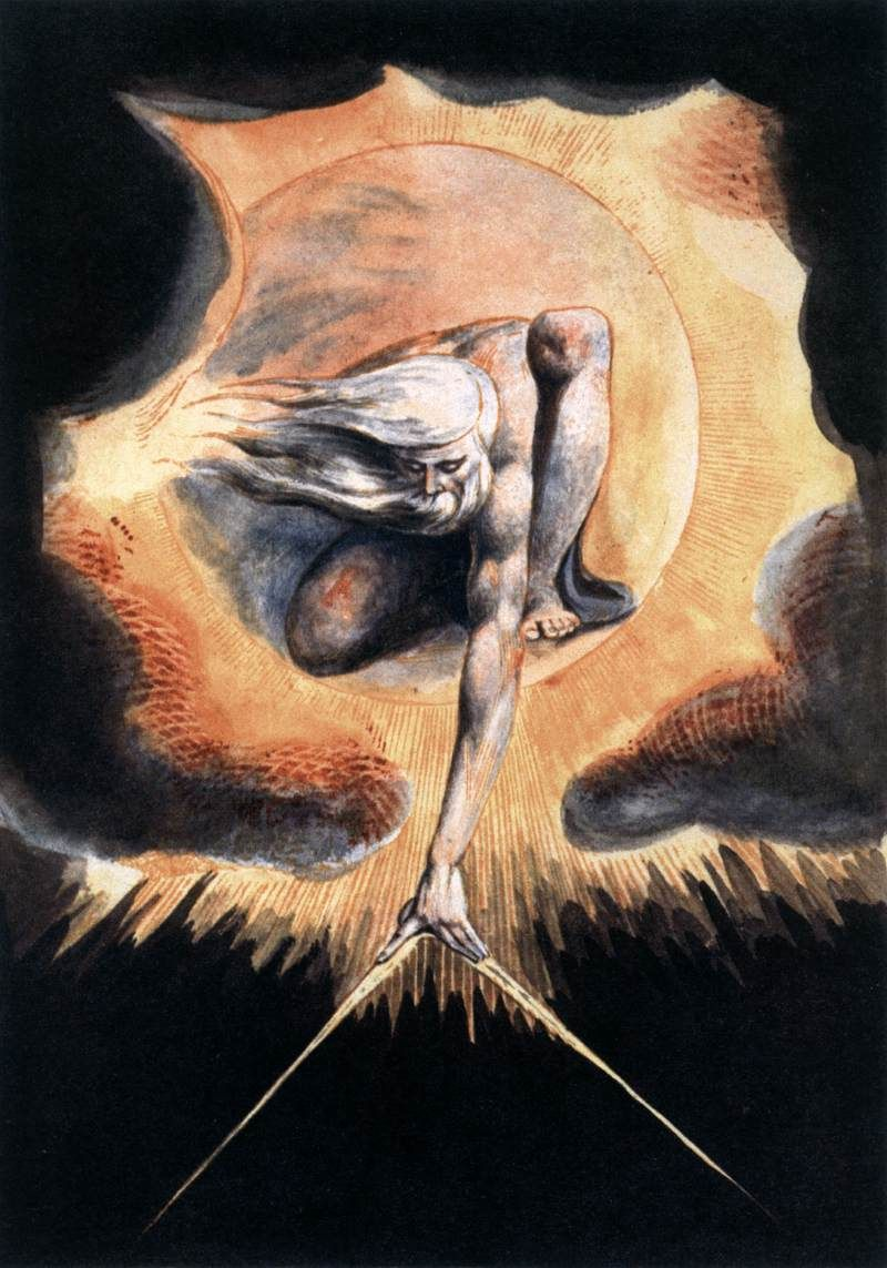 Image result for the ancient of days william blake