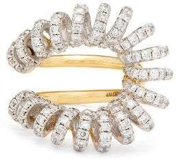 Ana Khouri Maia Diamond & 18kt Gold And White-gold Ring - Womens - Crystal #Sponsored , #PAID, #Diamond#kt#Ana