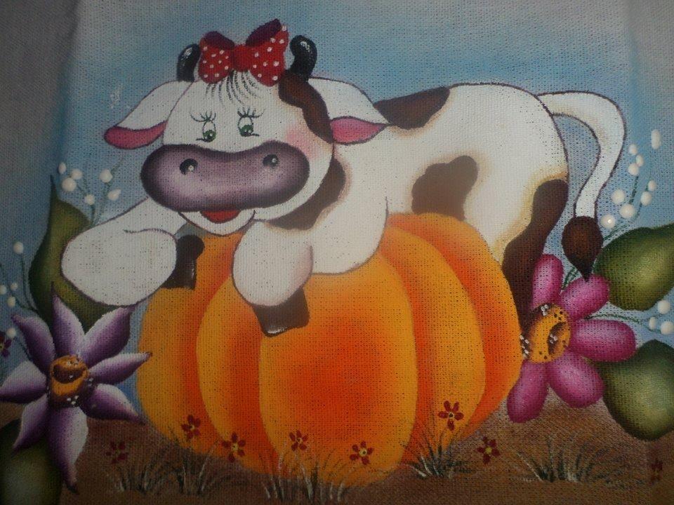Vaca na abobora...