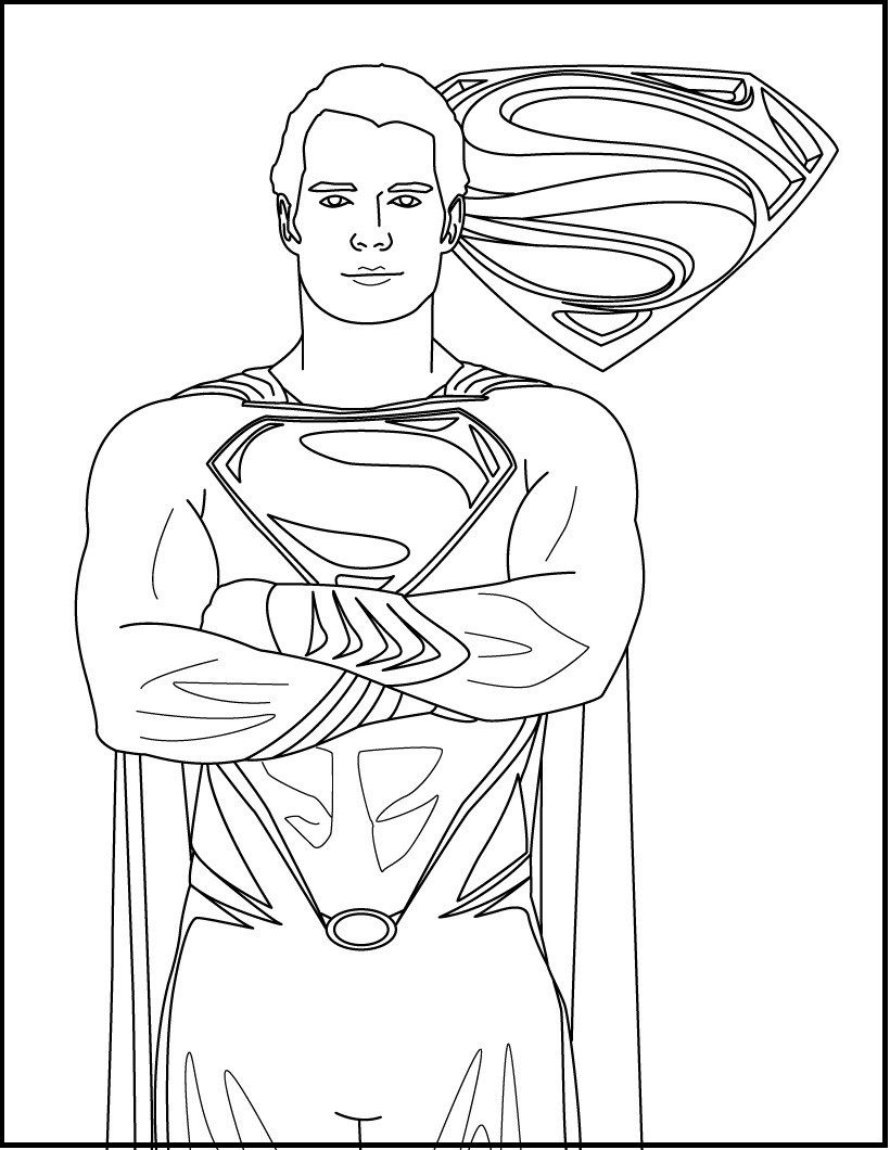 Photos Of Superman Heroes coloring picture for kids | Superman ...