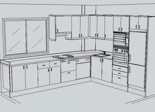 Resultado de imagen para planos de cocinas integrales for Planos de cocinas grandes
