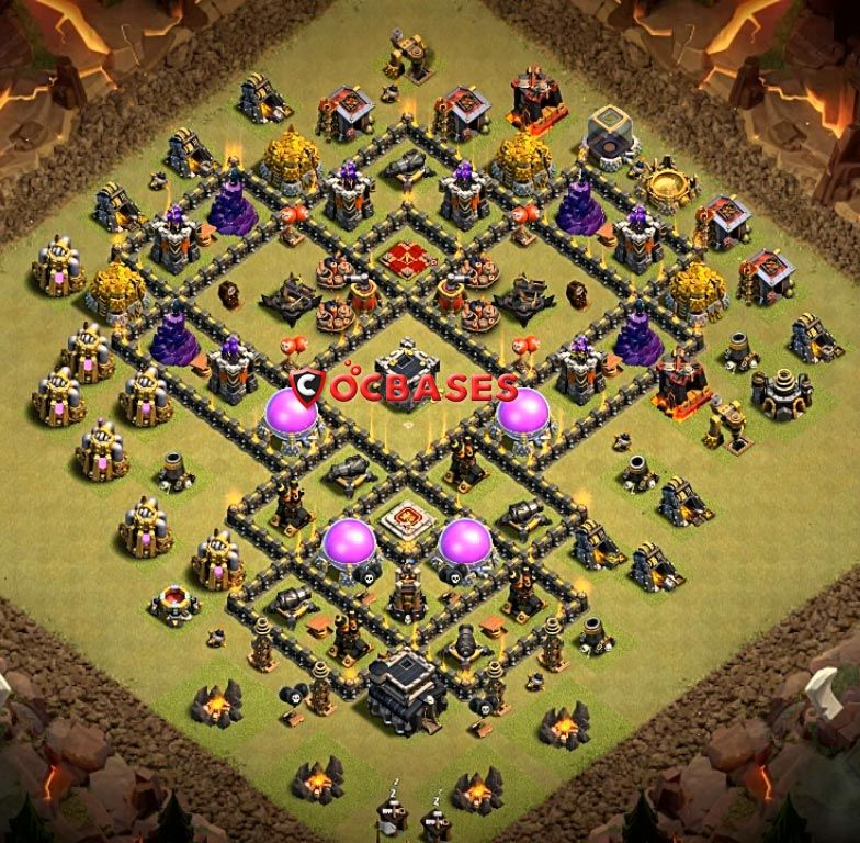 Anti Everything Best Th9 War Base 2019 5