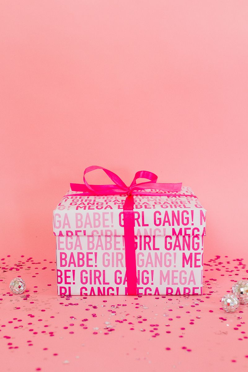 DIY HEN PARTY KIT WITH FREE PRINTABLE GIRL GANG WRAPPING PAPER ...