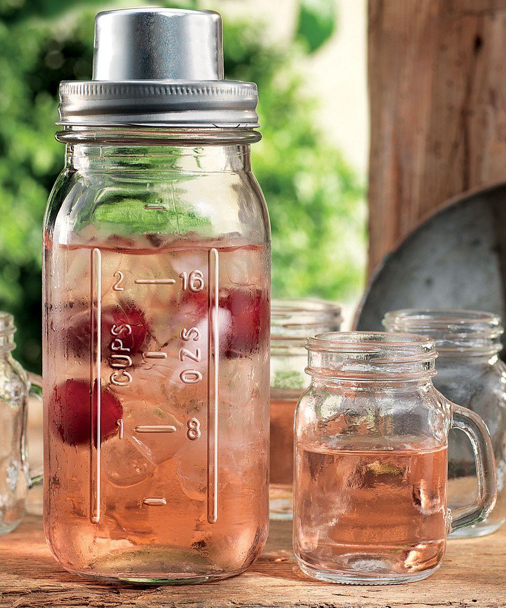 Mason Jar Cocktail Shaker & Shooter Set Mason jar